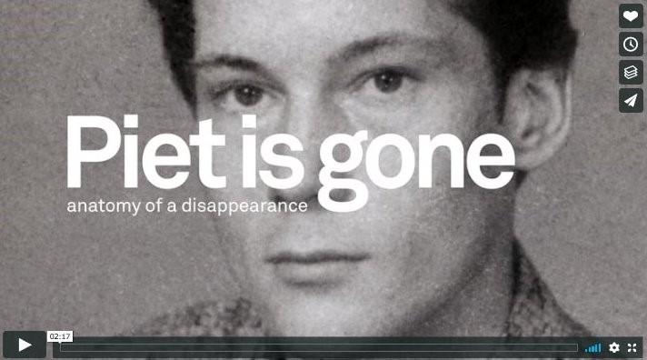 Piet is weg - documentaire door Jaap van Hoewijk over de vermissing van Piet Beentjes